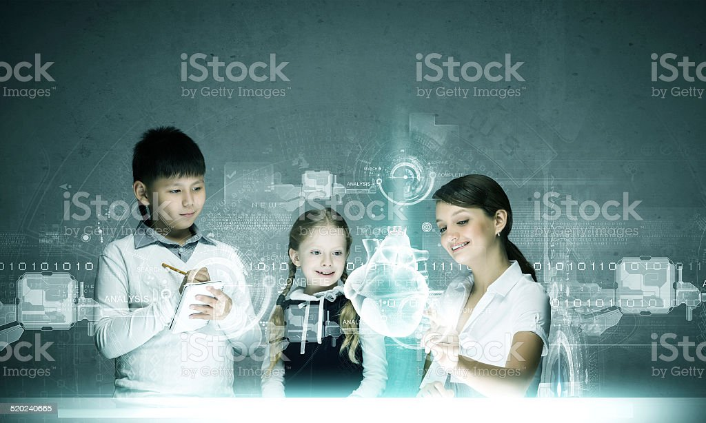 Anatomy lesson stock photo