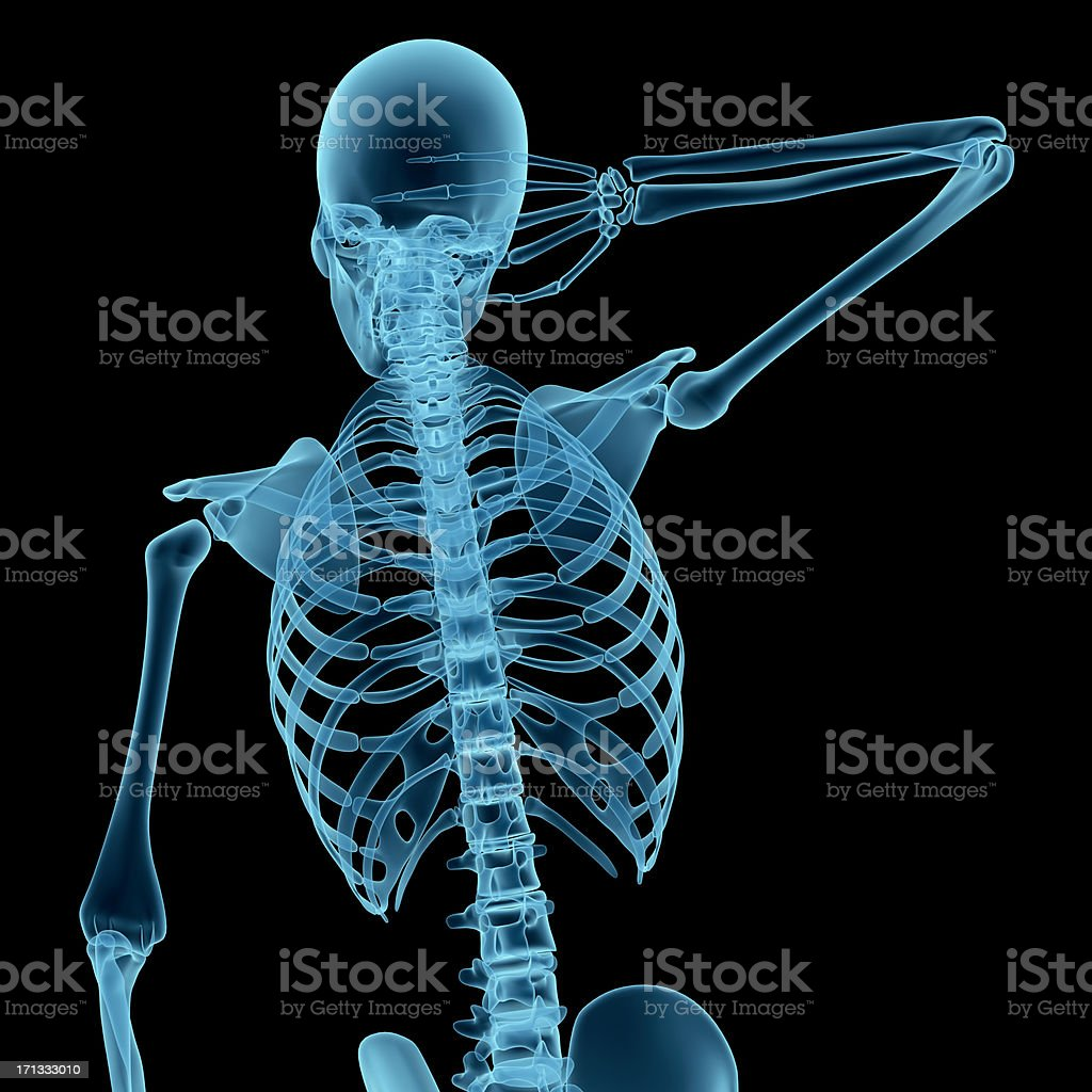 Anatomy Of A Man With His Hand On Neck Stock Photo More Pictures