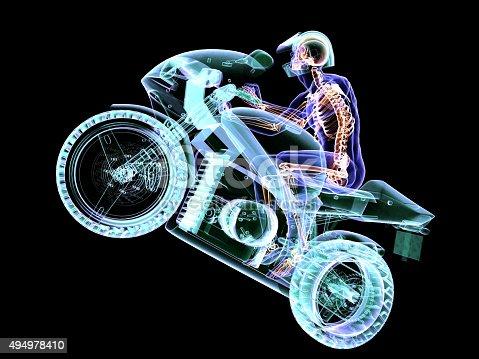 istock Anatomy of Motorcycle Acrobat 494978410