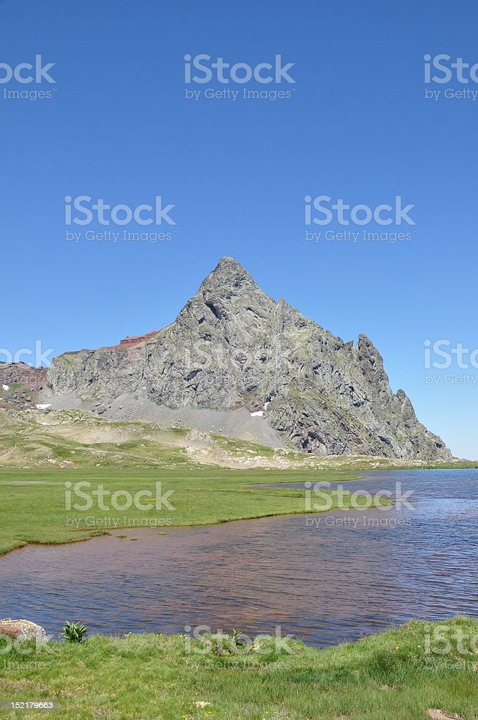 Anayet lake and pic stock photo