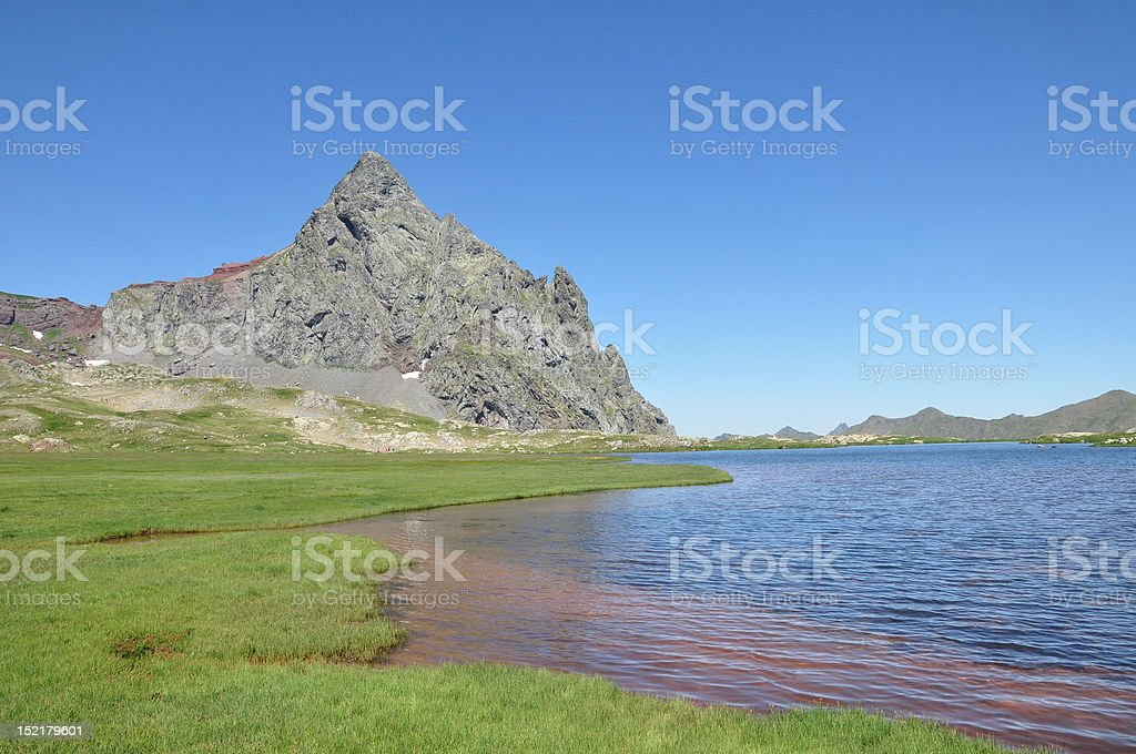 Anayet lake stock photo