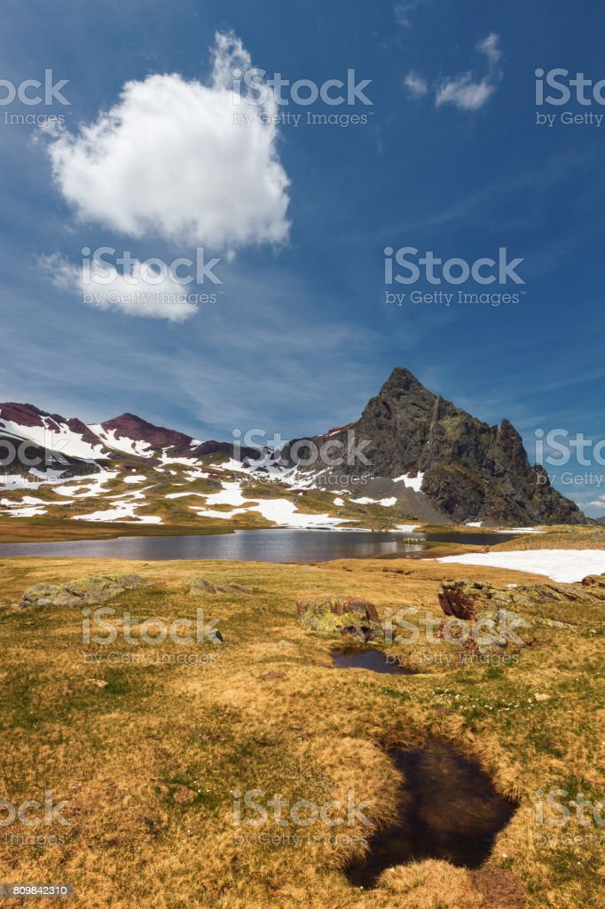 Anayet peak, in the Pyrenees, Huesca, Spain. stock photo