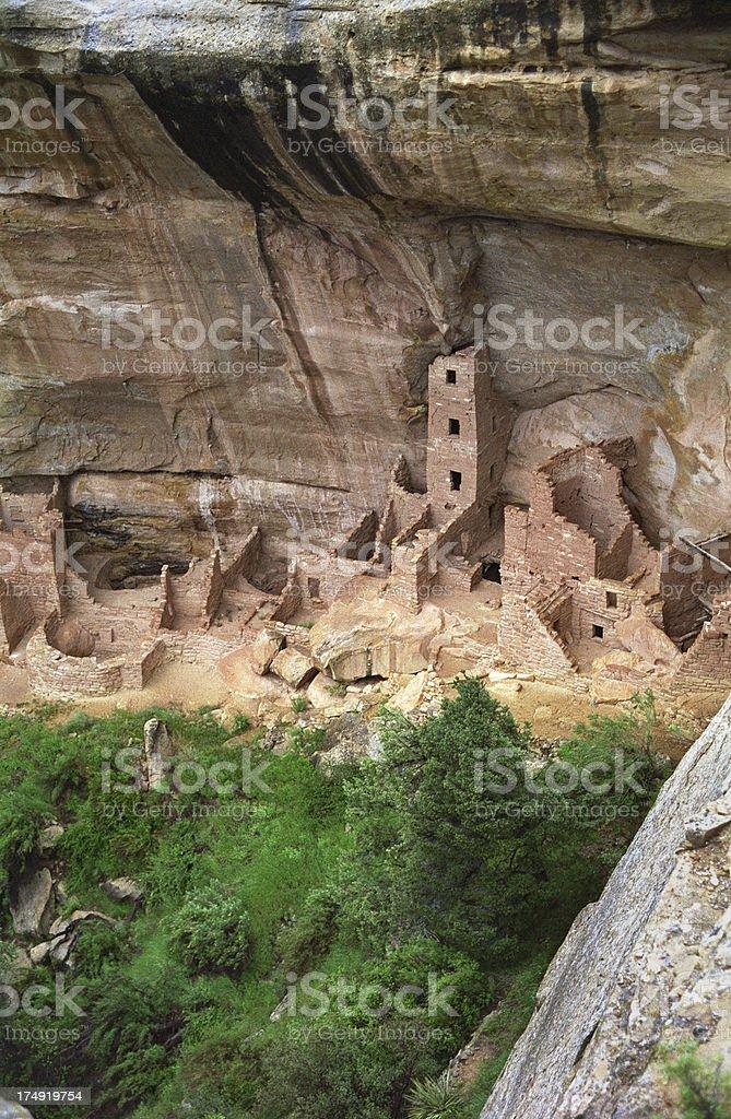 Ancestral Pueblo ruins Mesa Verde NP Colorado stock photo