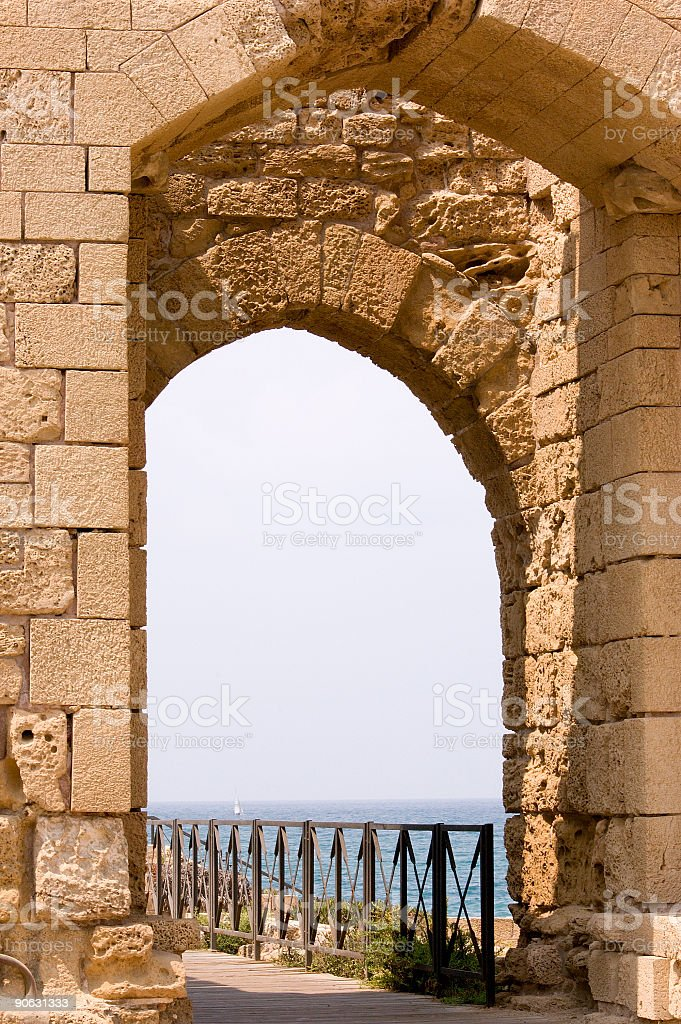 anchient arch royalty-free stock photo
