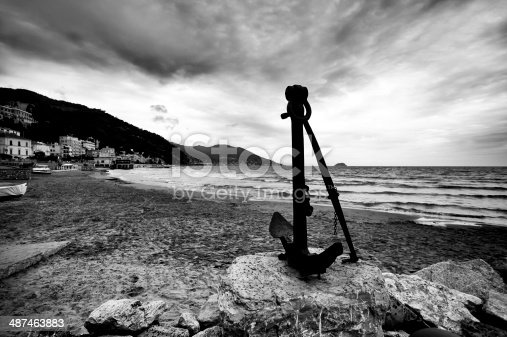 istock Anchor. Black and White 487463883