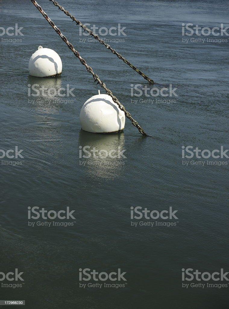 Anchor Chain Buoy Float Ship Mooring royalty-free stock photo