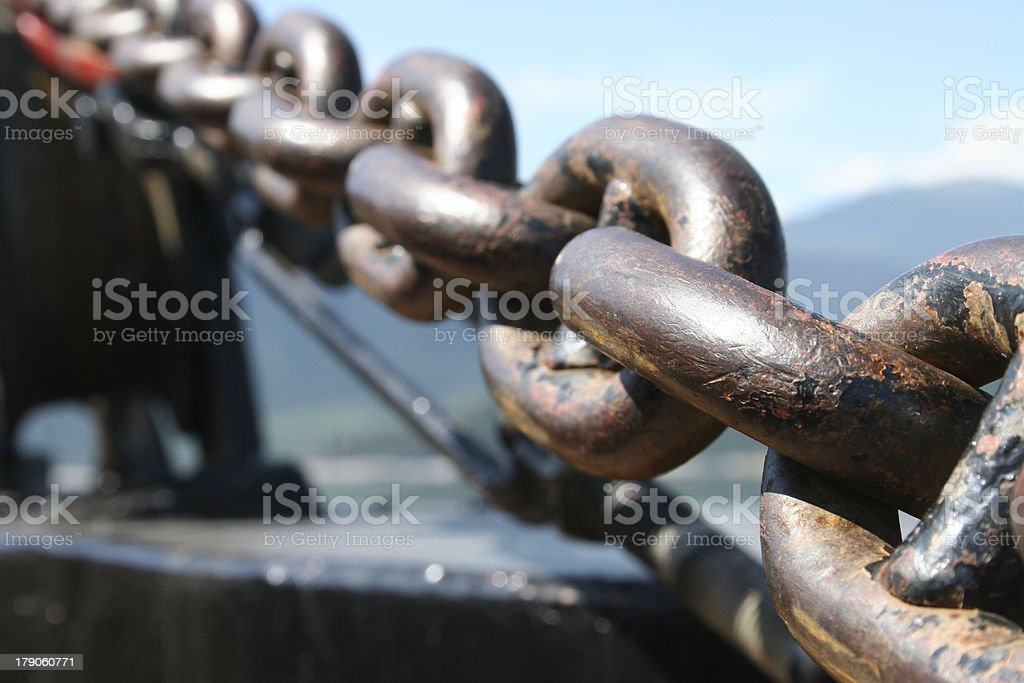 anchor chain royalty-free stock photo