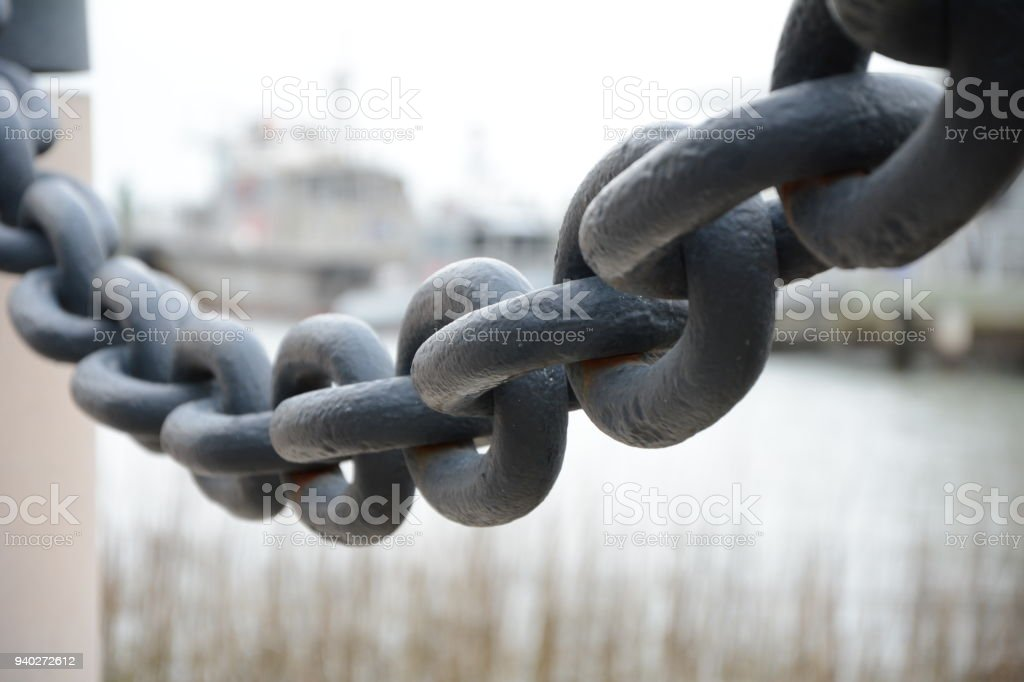 anchor chain stock photo