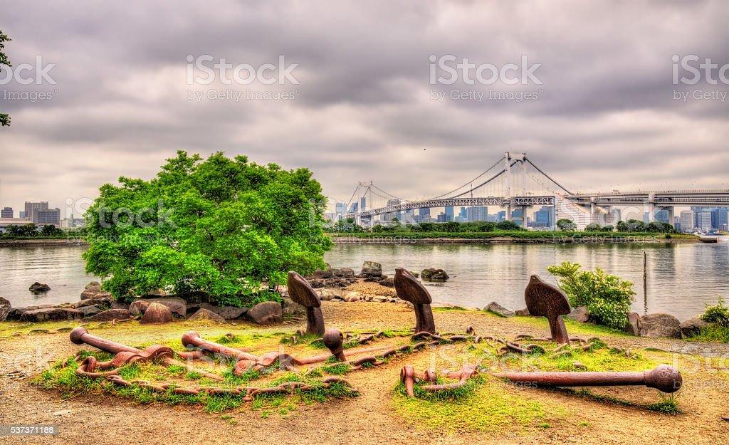 Anchor field in Odaiba Marine Park - Tokyo stock photo