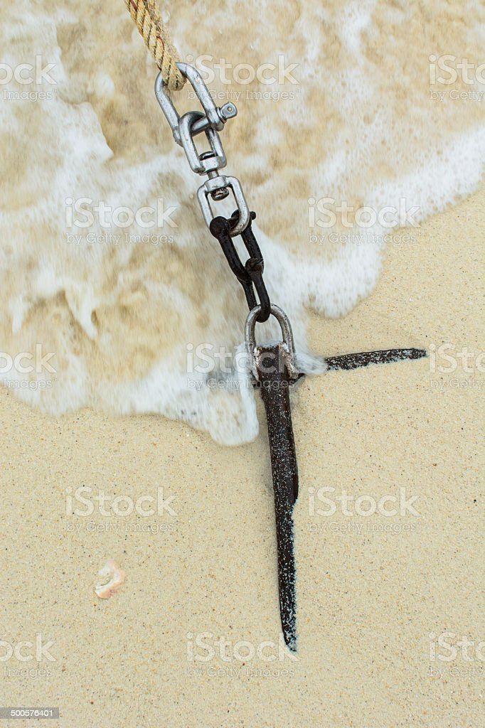 Anchor for long tail boat royalty-free stock photo