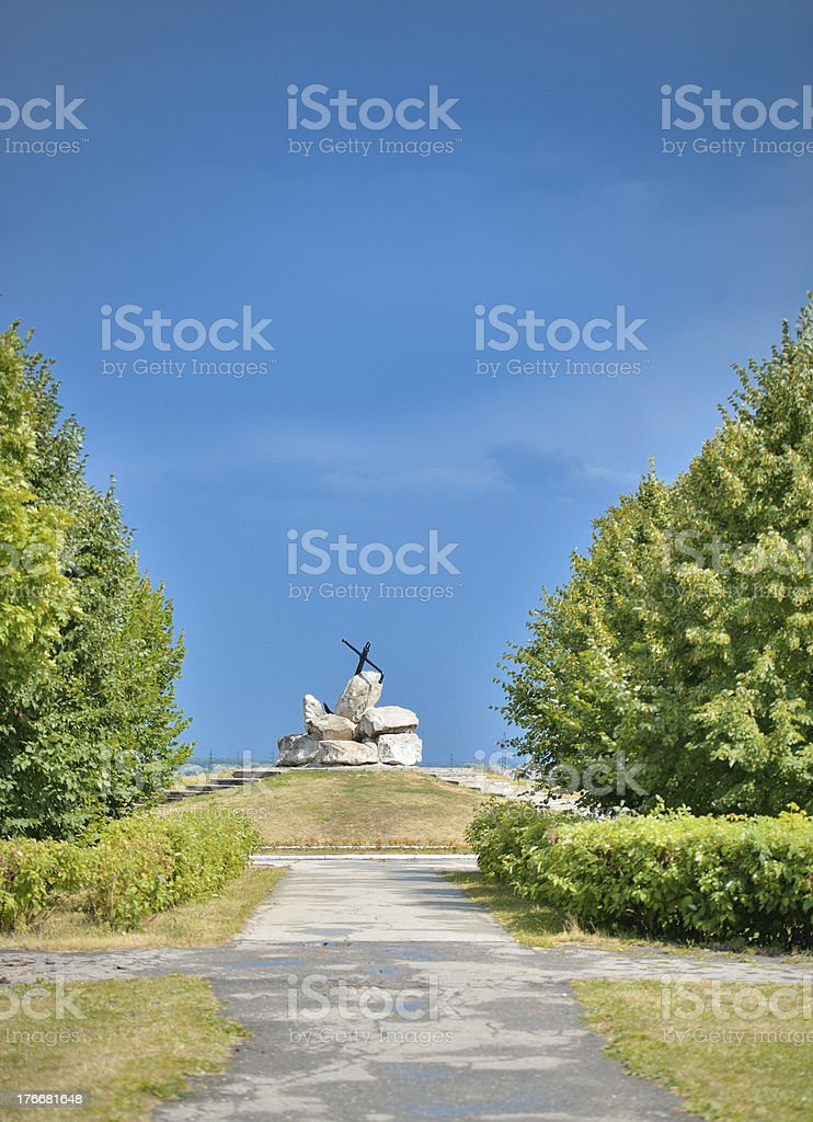 Anchor monument in the park royalty-free stock photo