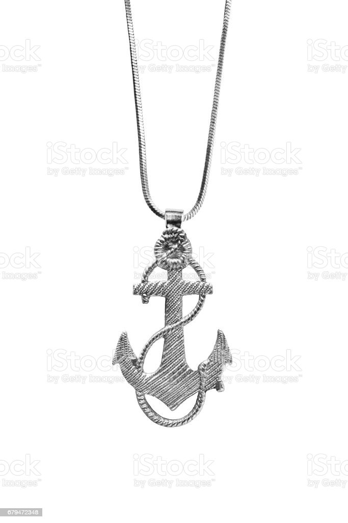 Anchor pendant isolated royalty-free stock photo