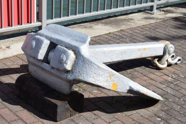Anchor 2019 St. Goar / St. Goarshausen in Rhine valley deadweight stock pictures, royalty-free photos & images