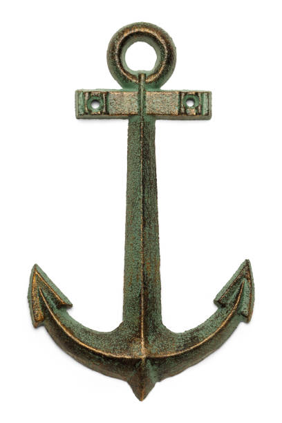 Anchor Sailing Boat Anchor Isolated on White Background. anchor stock pictures, royalty-free photos & images
