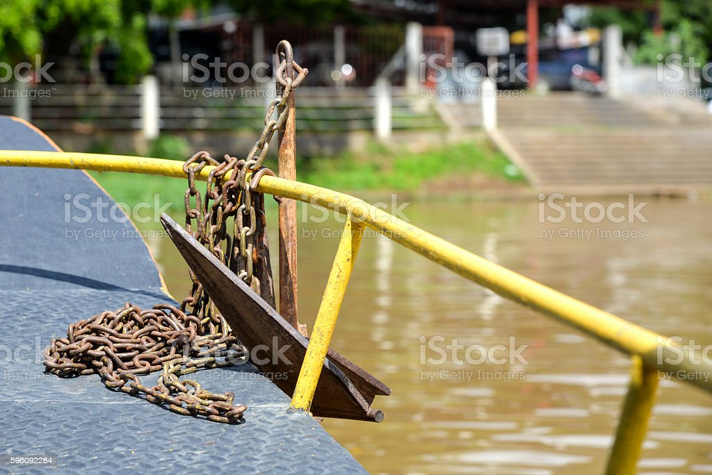 Anchor small on boat. Lizenzfreies stock-foto