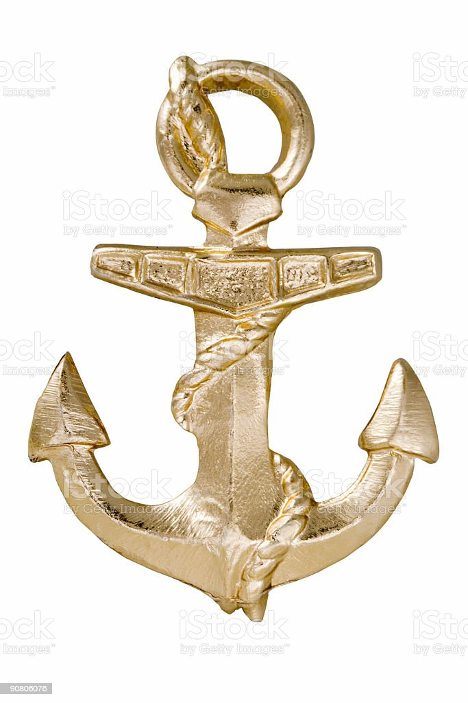 anchor symbol stock photo