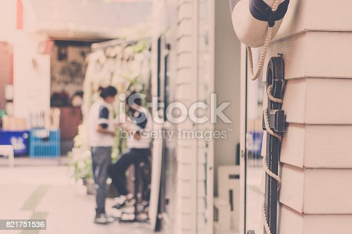 istock Anchor the back is a picture of two women talking vintage tone. 821751536