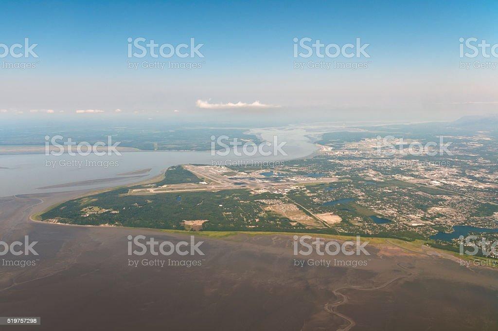 Anchorage Alaska aerial view stock photo