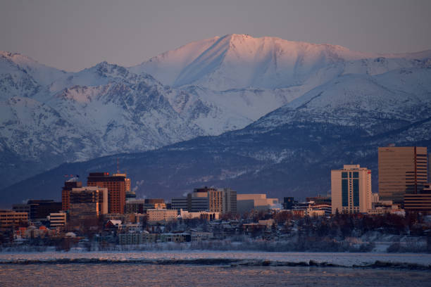 Anchorage, Alaska stock photo