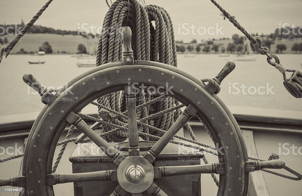 Anchored in Harbour stock photo