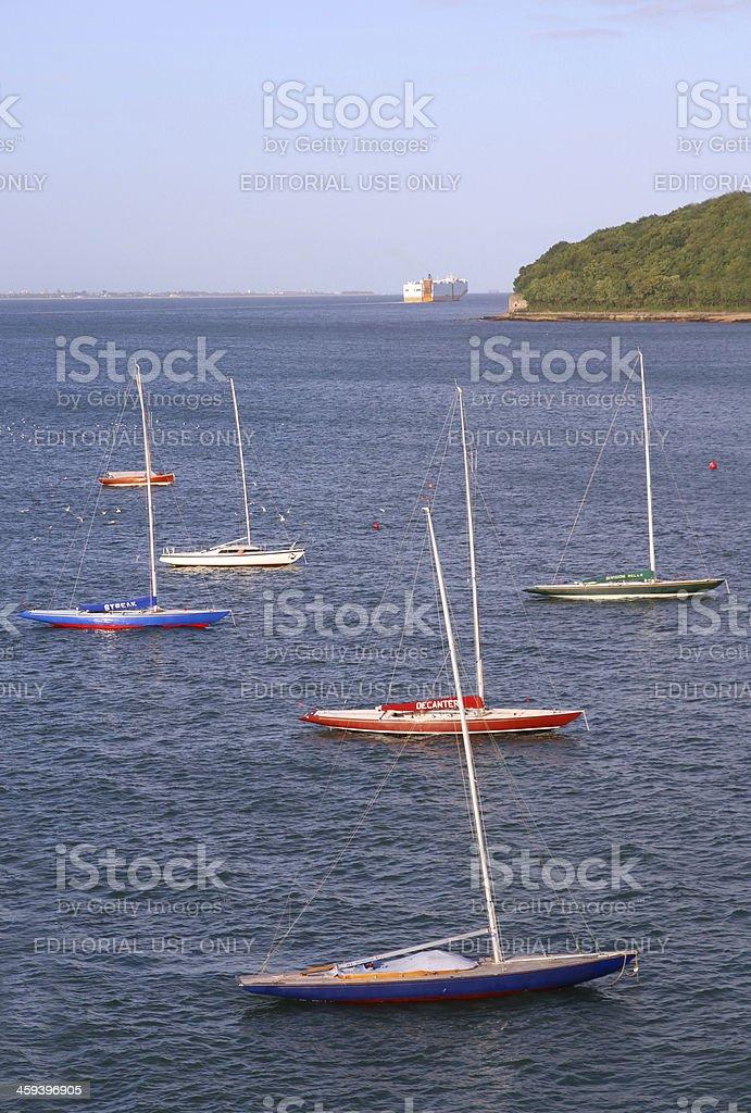Anchored Off Shore royalty-free stock photo