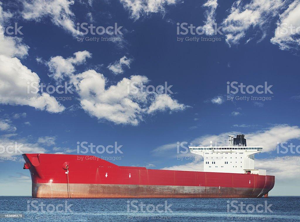 Anchored Oil Tanker stock photo