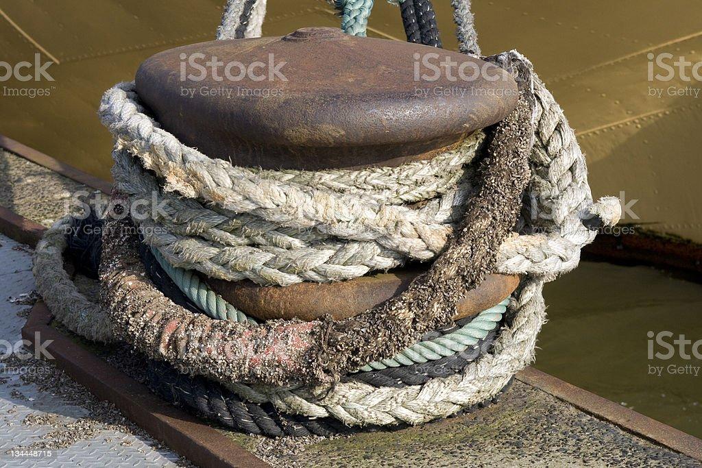 Anchored royalty-free stock photo