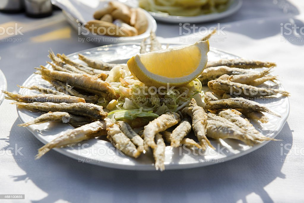Anchovies stock photo