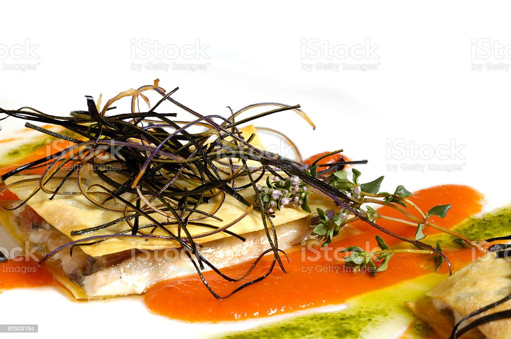 Anchovy lasagne IV royalty-free stock photo