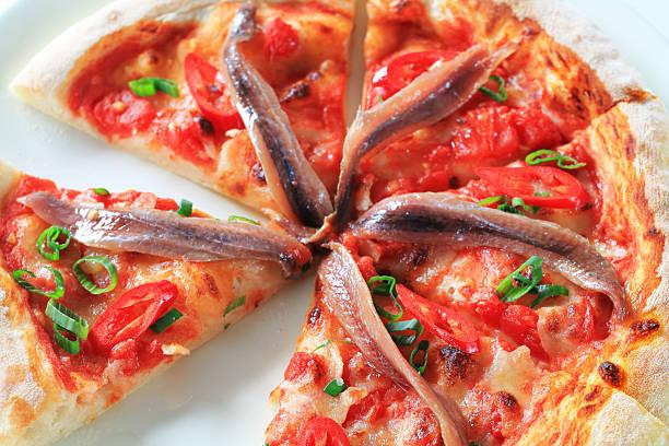 anchoa pizza - anchoa fotografías e imágenes de stock