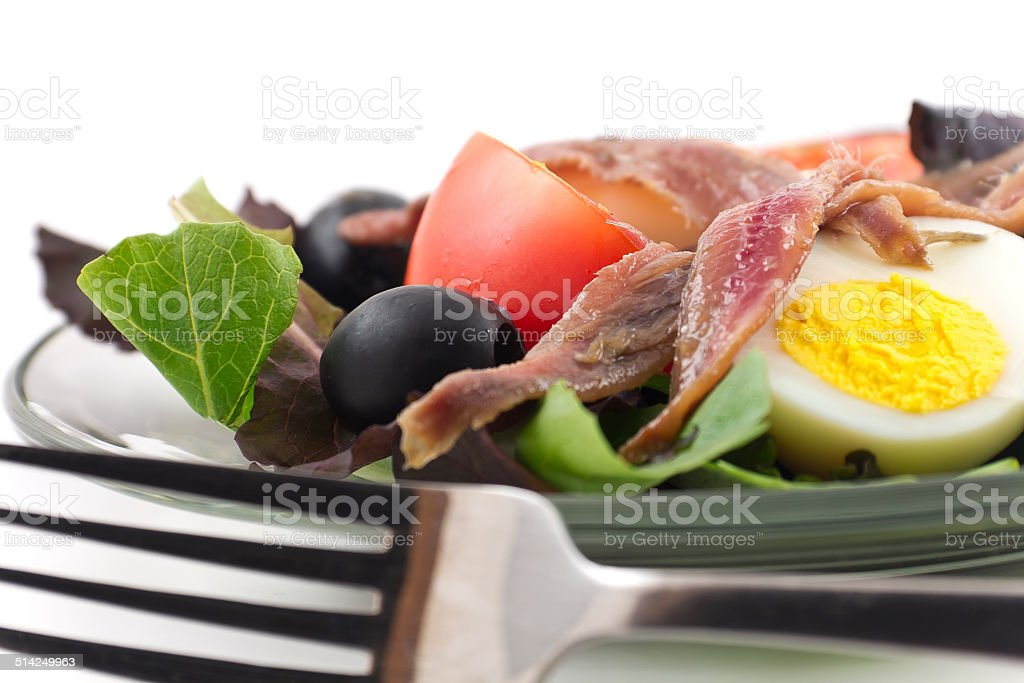 Anchovy Salad stock photo