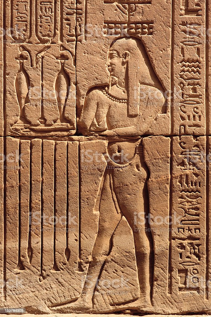 Anciemt Egyption Carving royalty-free stock photo