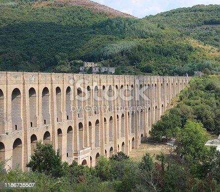 Ancien Caroline Aqueduct in South Italy near Caserta City
