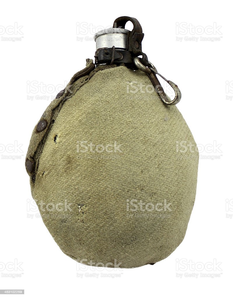 gourde du soldat allemand Ancienne - foto stock