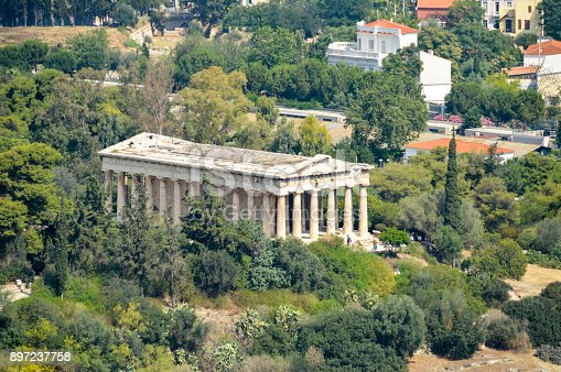 istock Ancient Agora and the Temple of Hephaestus in Athens, Greece 897237758