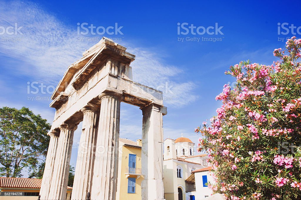 Ancient Agora, Athens stock photo