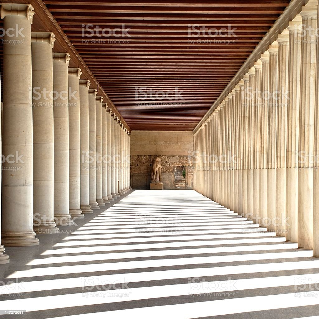Ancient Agora. stock photo