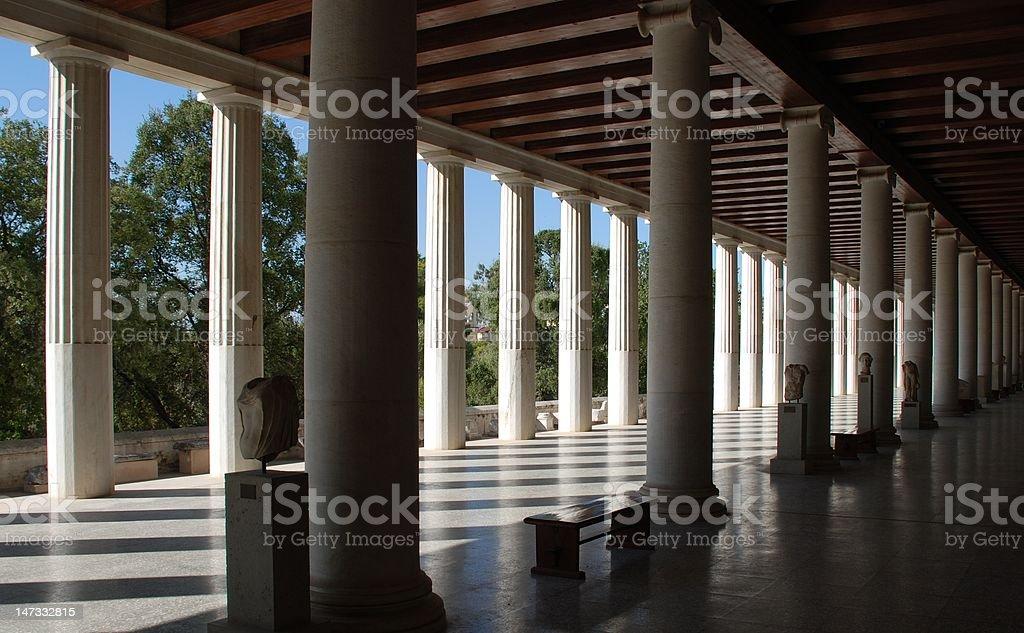 Ancient Agora royalty-free stock photo
