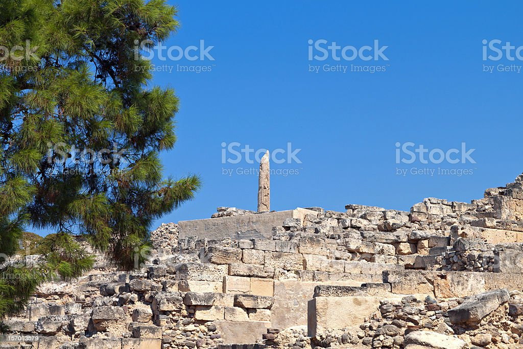 Ancient Aigina in Greece stock photo
