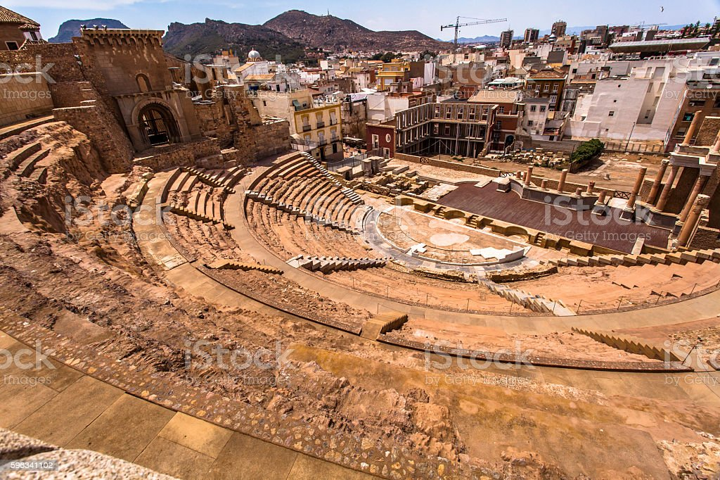Ancient amphitheater royalty-free stock photo