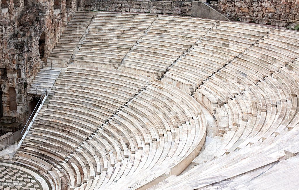 Ancient amphitheater. stock photo