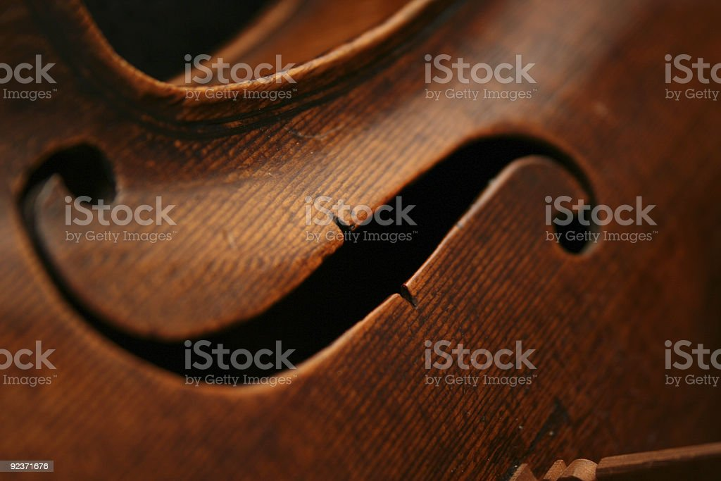 Ancient and Very Expensive Viola - Close-Up stock photo