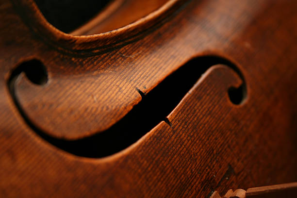 Ancient and Very Expensive Viola - Close-Up  string instrument stock pictures, royalty-free photos & images
