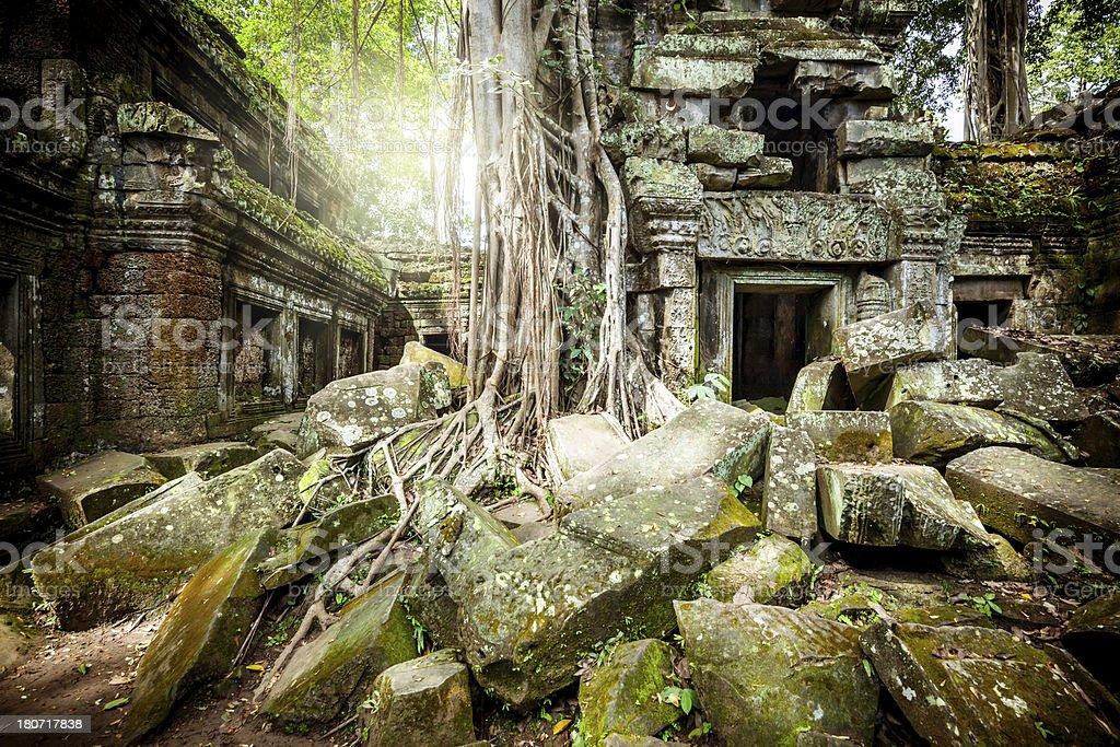 Ancient Angkor Wat, Cambodia royalty-free stock photo