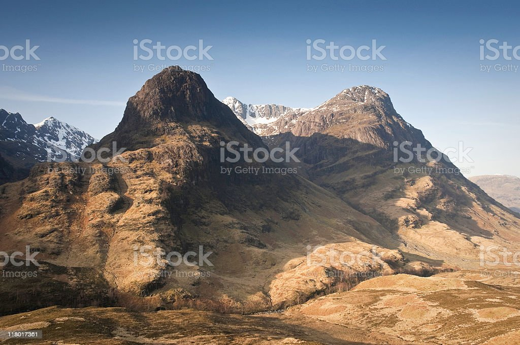Ancient Aonach Dubh mountains stock photo