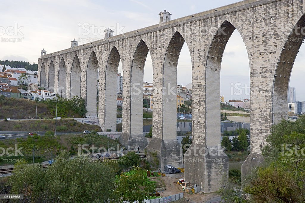 ancient aqueduct royalty-free stock photo