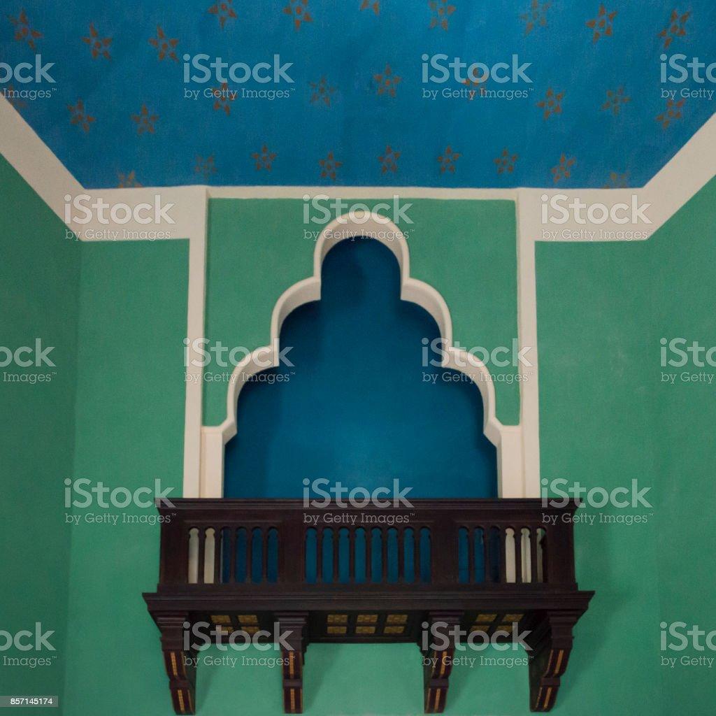 Ancient Arabian window stock photo