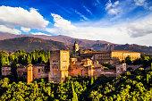 istock Ancient arabic fortress of Alhambra, Granada, Spain. 532188731