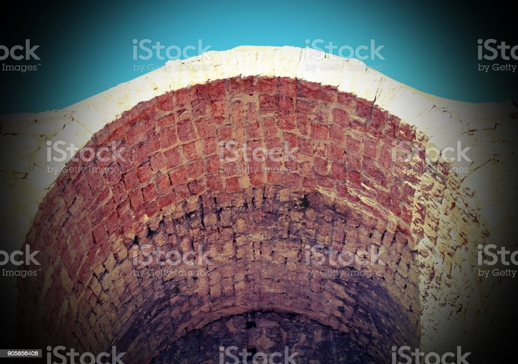 ancient Arc in bricks with vintage effect stock photo