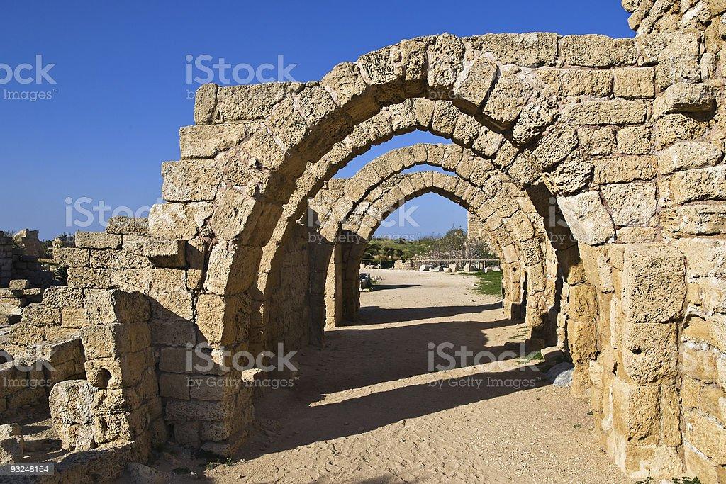 Ancient arcade stock photo